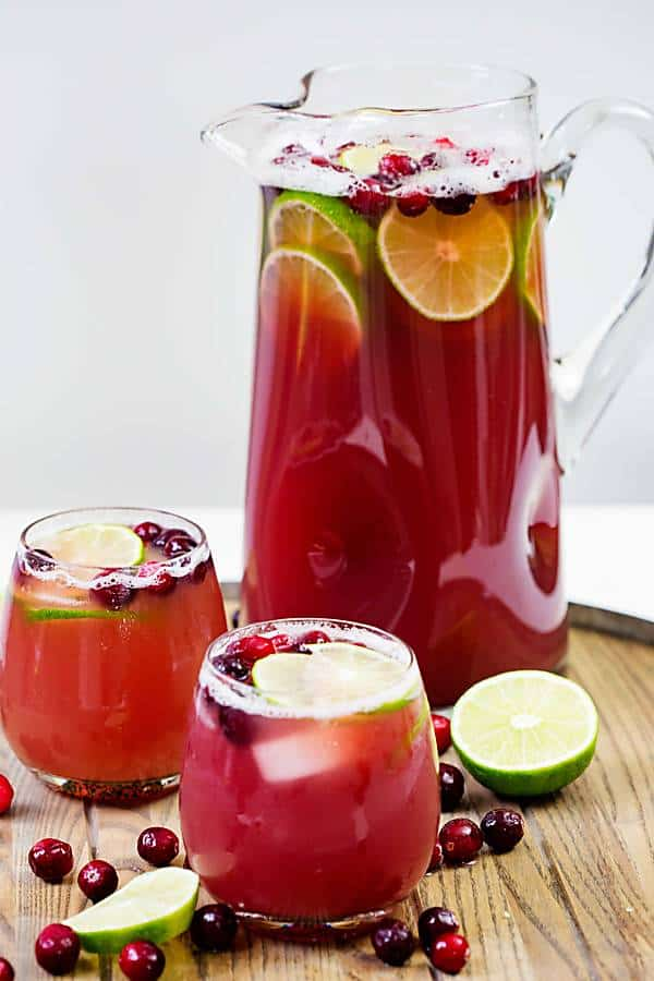 Holiday Drink Recipe - Cranberry Pineapple Punch by Real HouseMoms