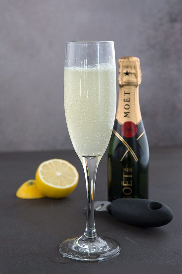 Holiday Drink Recipe - Keto Friendly French 75 Cocktail by All Day I Dream About Food