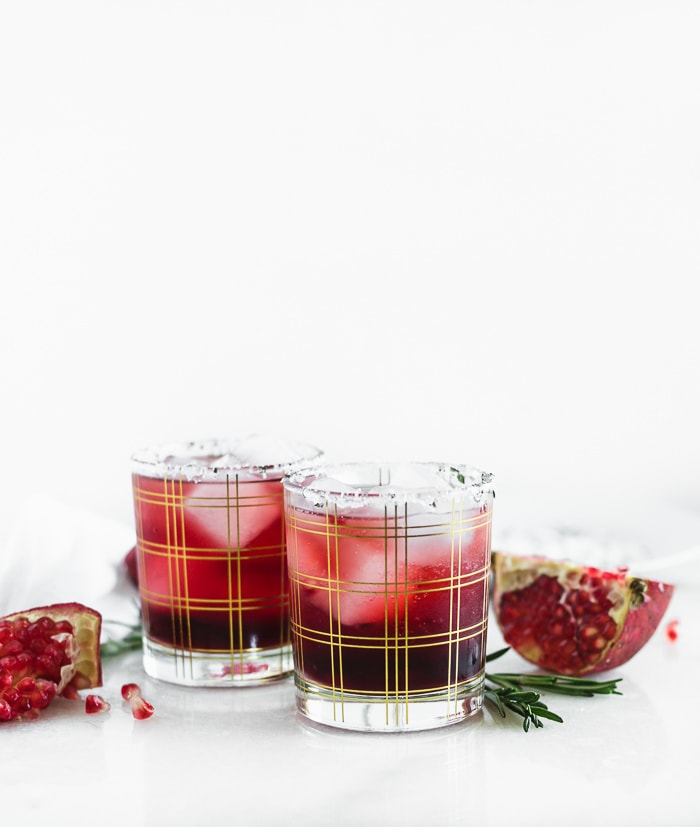 Holiday Drink Recipe - Pomegrante Ginger Smash by Lively Table