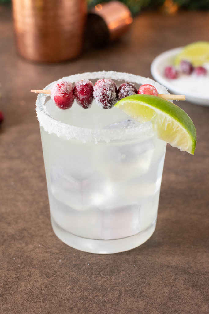 Holiday Drink Recipe - White Christmas Cranberry Margarita by 4 Sons R Us