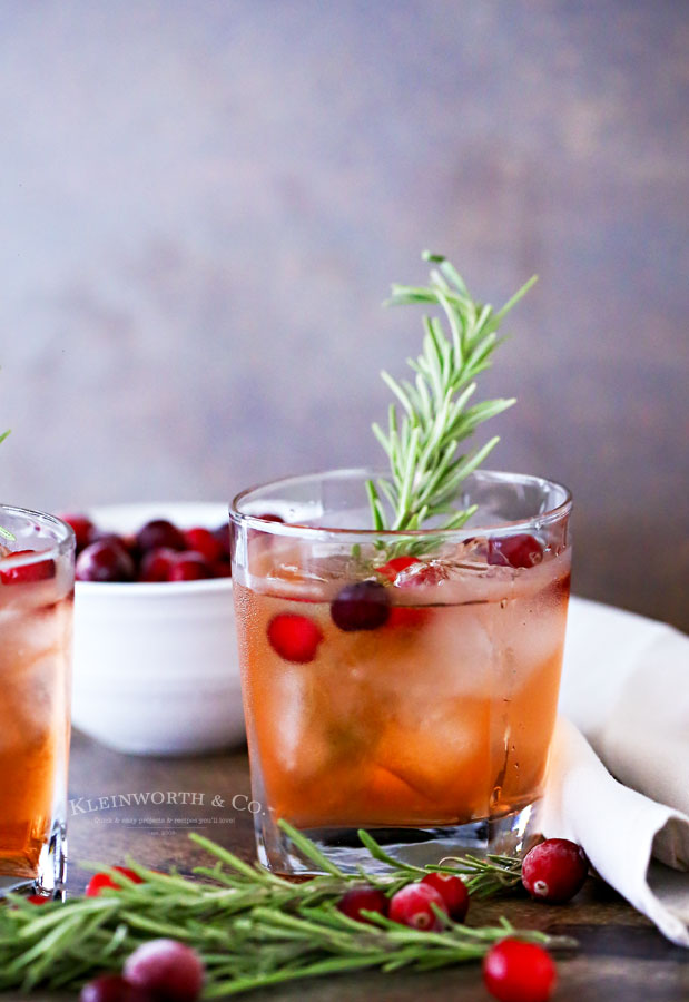 Holiday Drink Recipes - Apple Cranberry Spritzer by Kleinworth & Co.
