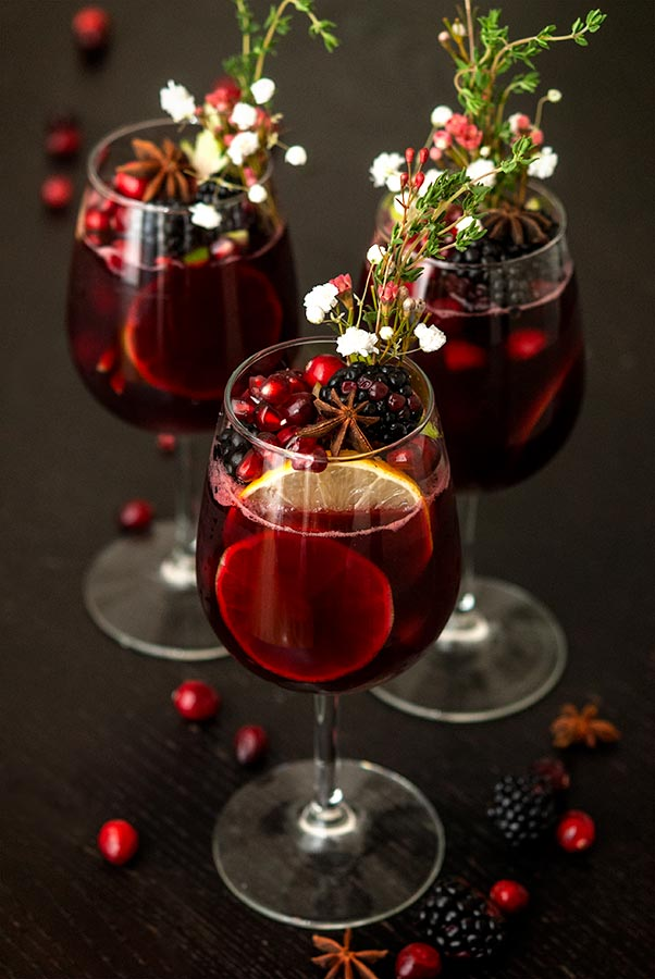 Holiday Drink Recipes - Christmas Sangria by She Keeps a Lovely Home