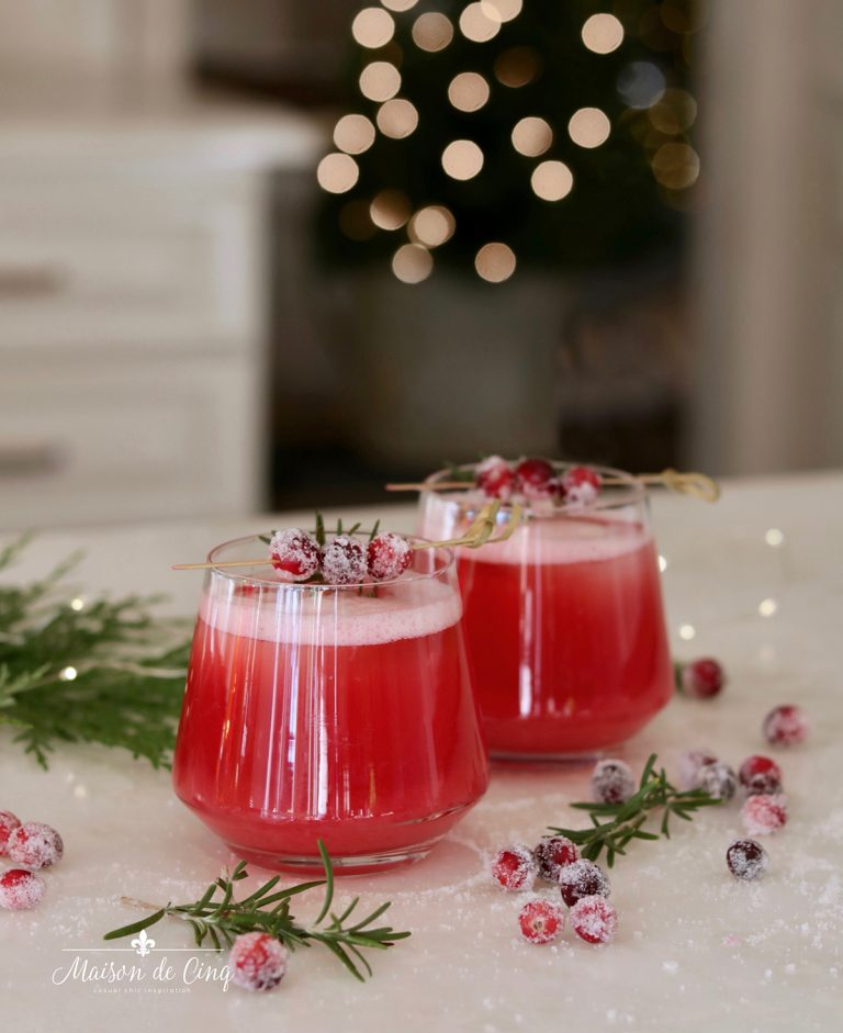 Holiday Drink Recipes - Cranberry Whiskey Sour by Maison de Cinq