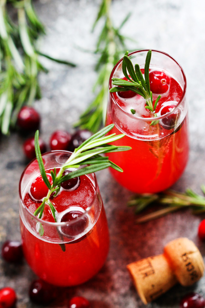 Holiday Drink Recipes - Cranbery Ginger Belini by Platings + Pairings
