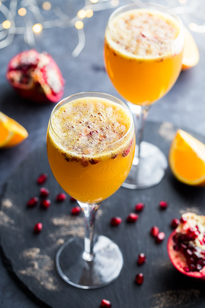 Holiday Drink Recipes - Ginger Beer Mimosas by Crumb Top Baking