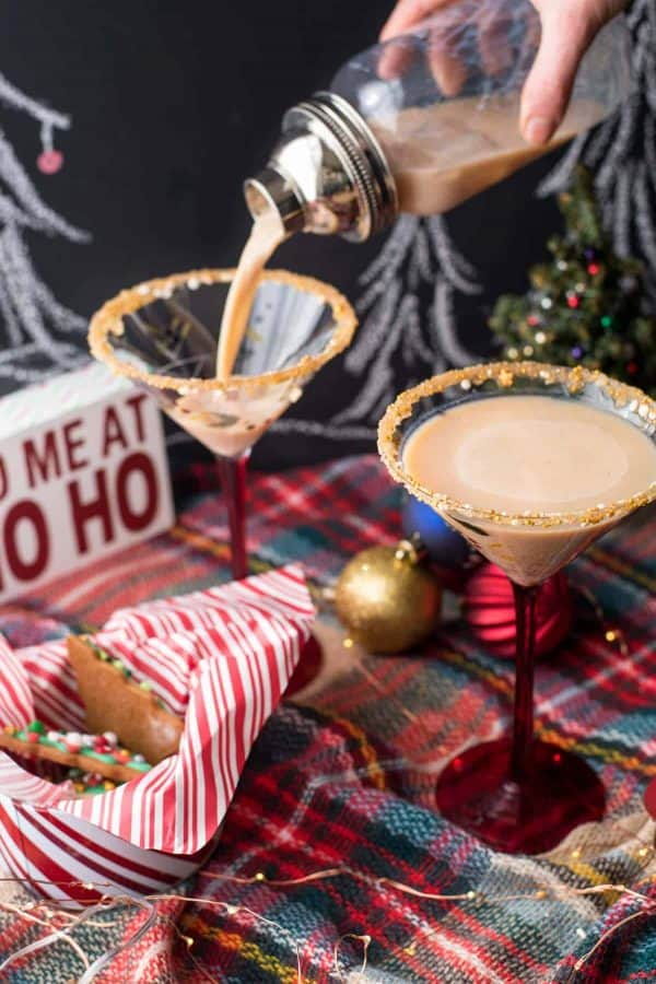 Holiday Drink Recipes - Gingerbread Martini by Hunger Thirst Play