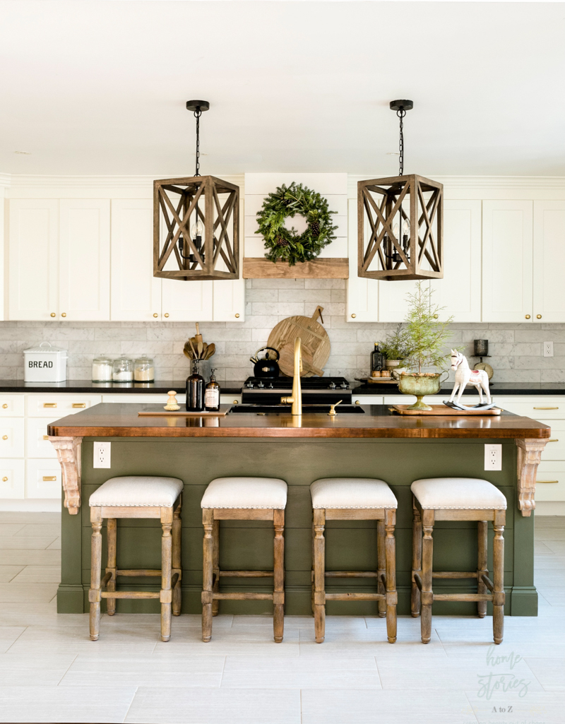 Green And White Natural Christmas Home Tour