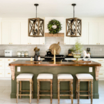 Mineral Fusion Bayberry Green Kitchen Island by Home Stories A to Z