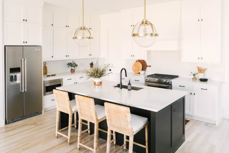 Neutral Paint Colors for Your Kitchen Island - Sherwin Williams Black Magic by Lindsey Dalton