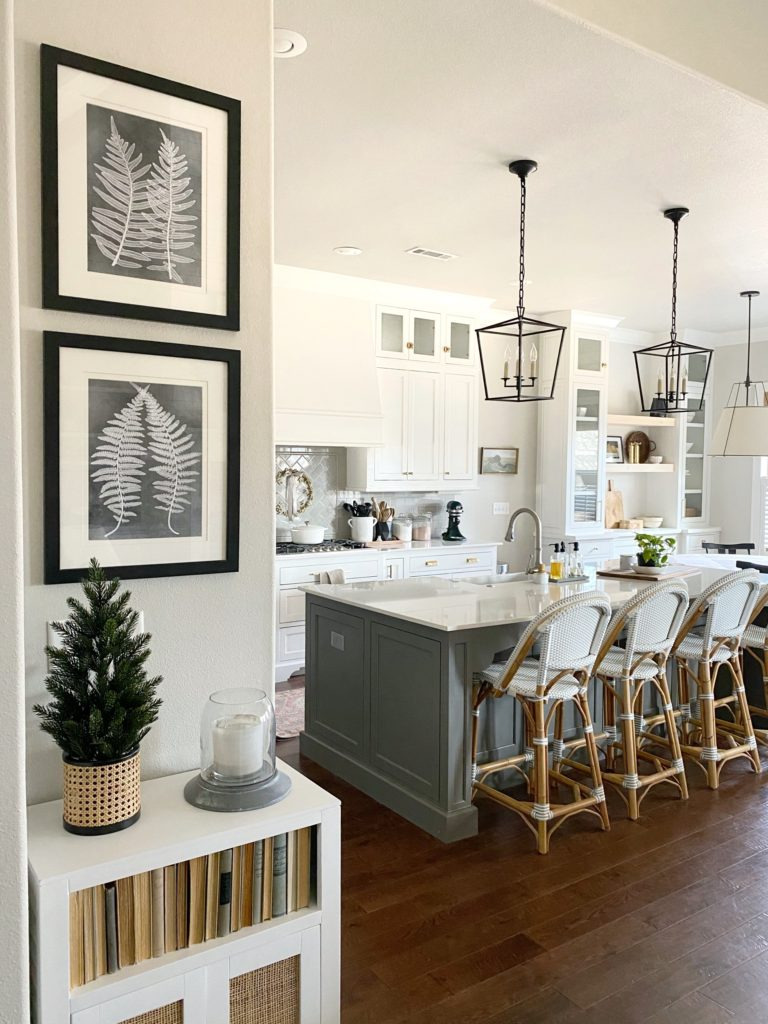 Neutral Paint Colors for Your Kitchen Island - Sherwin Williams Gauntlet Gray by Our Vintage Nest