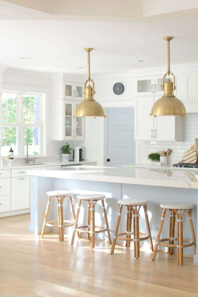 SW Krypton Kitchen Island Neutral Paint Colors for Your Kitchen Island - Sherwin Williams Krypton by Chrissy Marie Blog