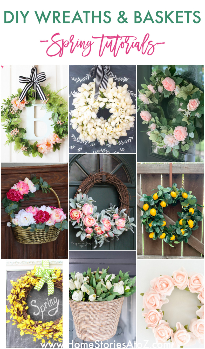 20 DIY Spring Wreaths and Baskets