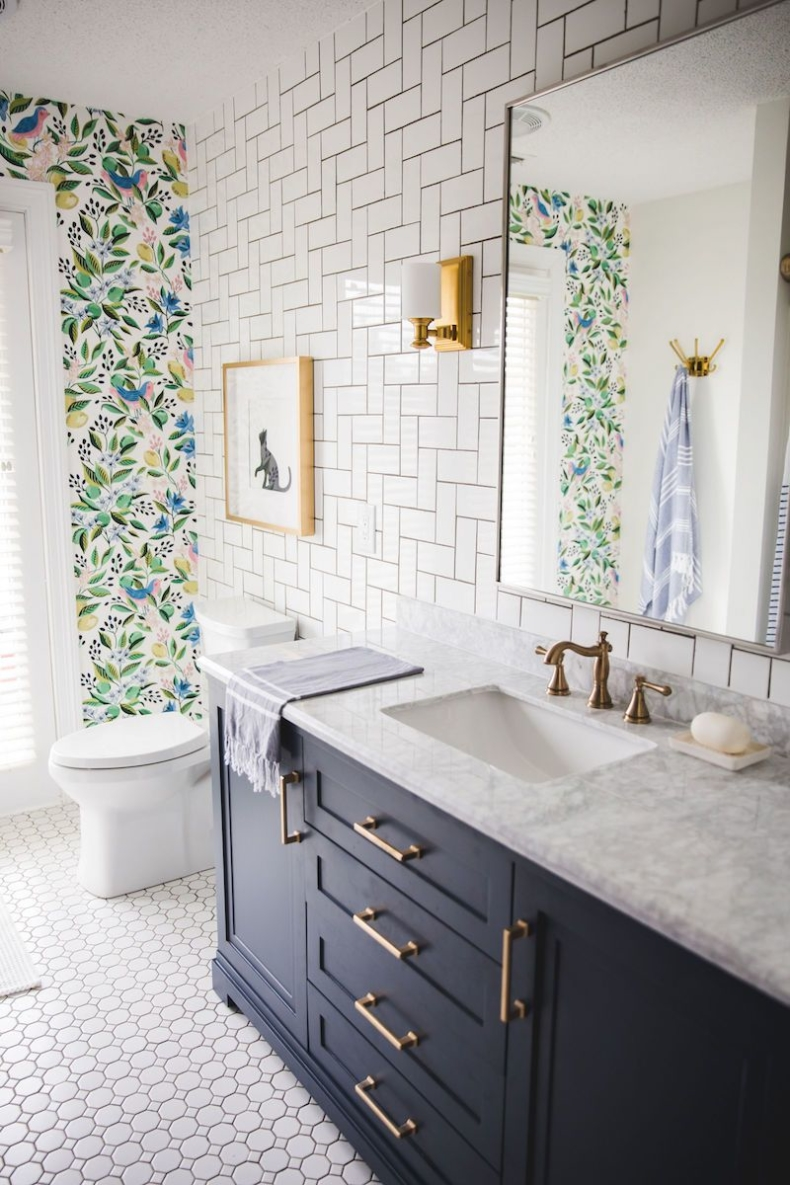 Accent Wall Ideas - Bathroom Accent Wall by Sincerely, Sara D.