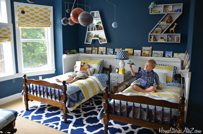 Accent Wall Ideas - Beadboard Wallpaper by Home Stories A to Z