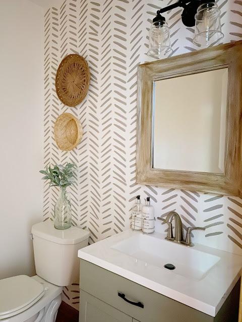 Accent Wall Ideas - Boho Bathroom by R & R at Home