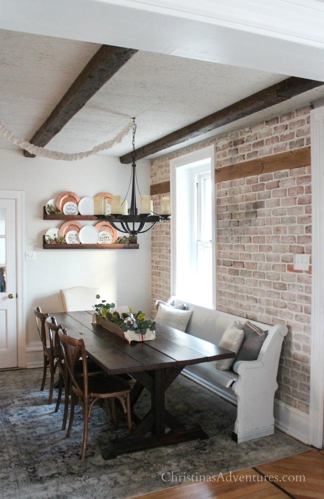 Accent Wall Ideas - Brick Veneer by Christina Maria Blog