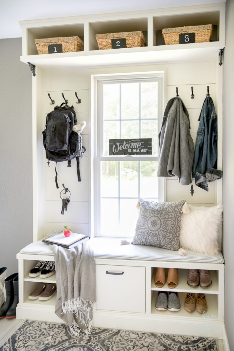 Accent Wall Ideas - Built in Mudroom Accent Wall by Home Stories A to Z