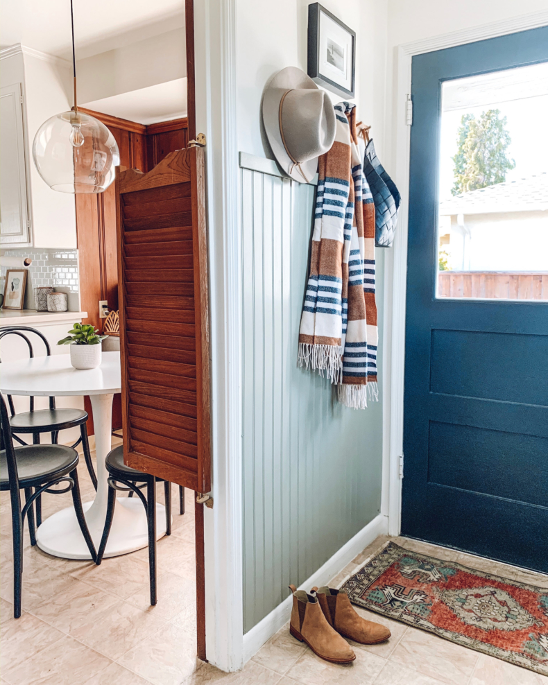 Accent Wall Ideas - Entryway Mudroom Area by Rebecca and Genevieve