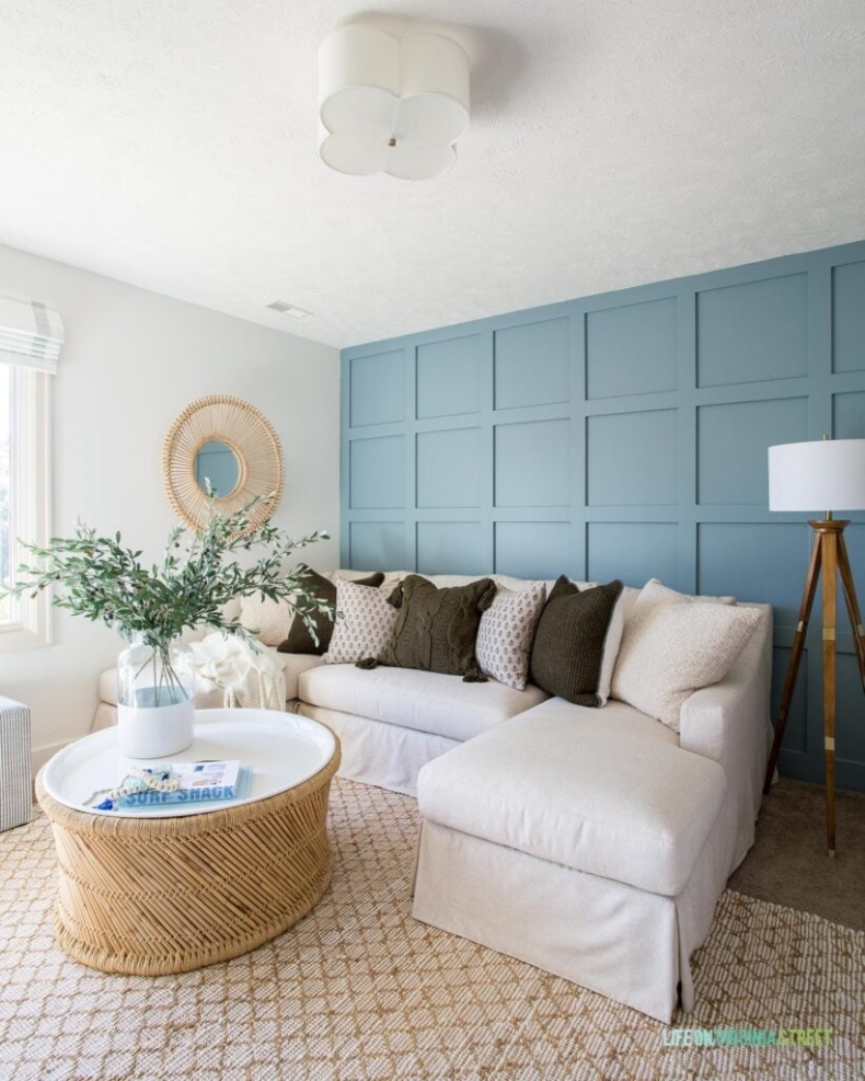 Accent Wall Ideas - Grid Wall by Life on Virgina Street