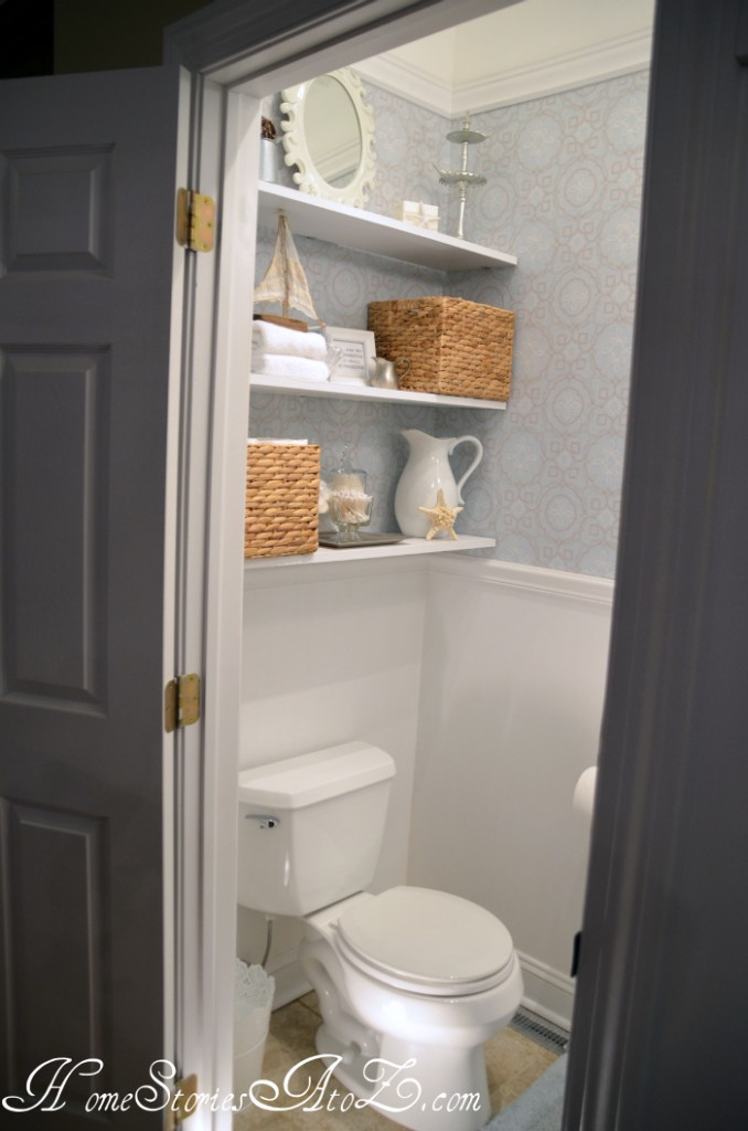Accent Wall Ideas - Half Bath by Home Stories A to Z
