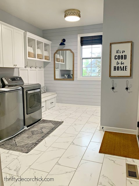 Accent Wall Ideas - Laundry Room Accent Wall by Thrifty Decor Chick