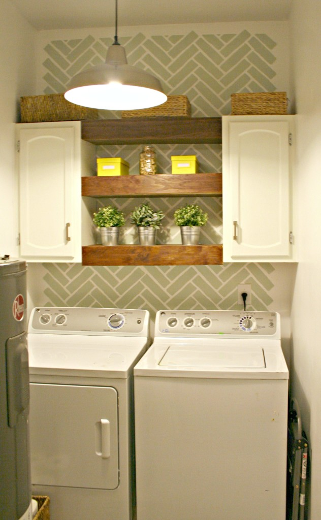 Accent Wall Ideas - Laundry Room Accent Wall
