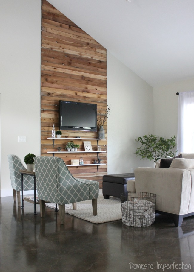 Accent Wall Ideas - Living Room Accent Wall by Domestic Imperfection