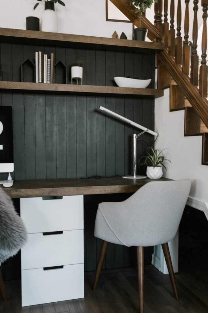 Accent Wall Ideas - Office Area Accent Wall by Love Create Celebrate