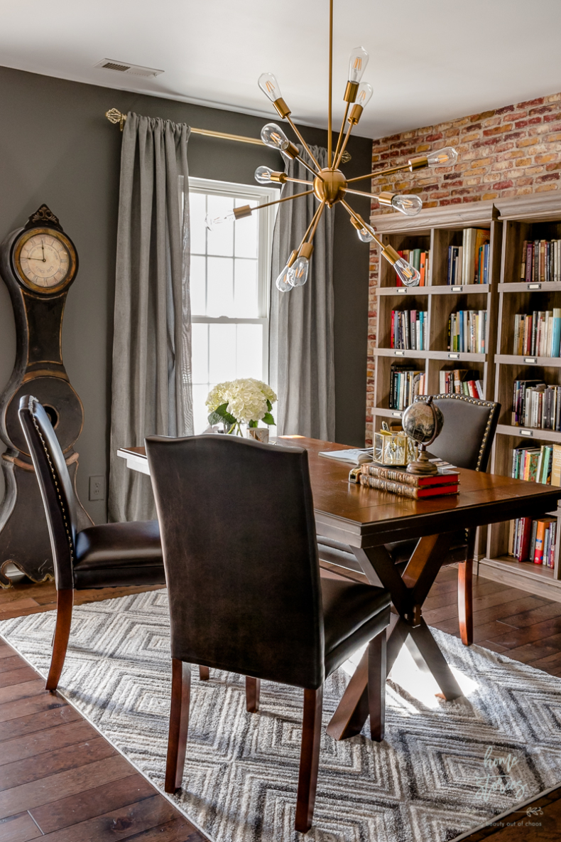 Accent Wall Ideas - Office Makeover by Home Stories A to Z