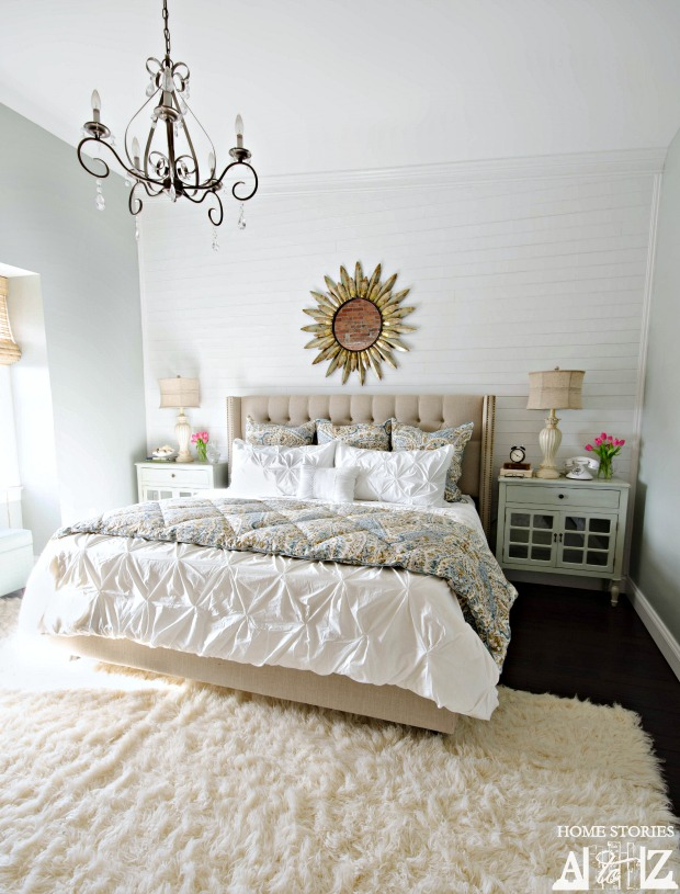 Accent Wall Ideas - Planked Wall in the Bedroom by Home Stories A to Z