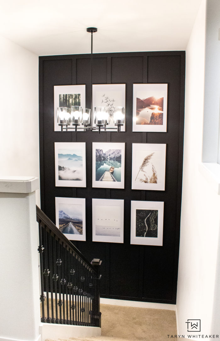 Accent Wall Ideas - Staircase Gallery Accent Wall by Taryn Whiteaker