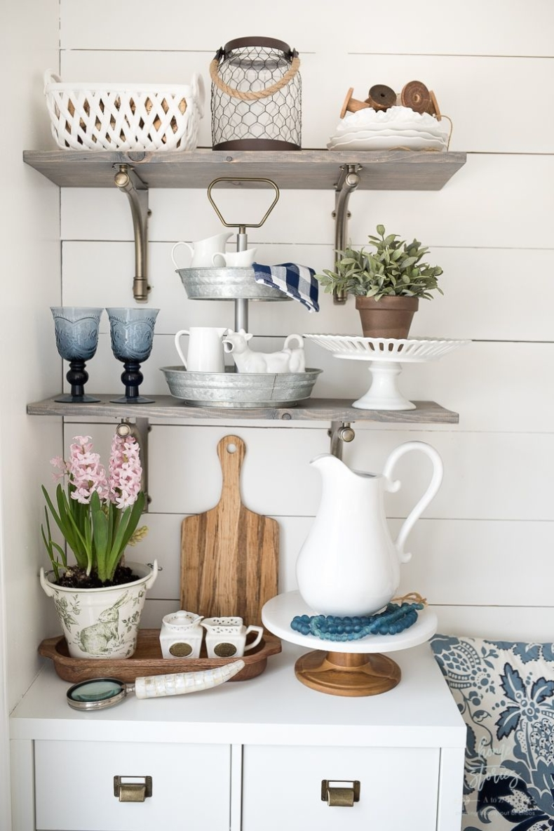 Early Spring Decorating Tips - How to Style Shelves by Home Stories A to Z