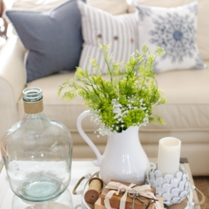 Early Spring Decorating Tips - Spring Living Area by Home Stories A to Z