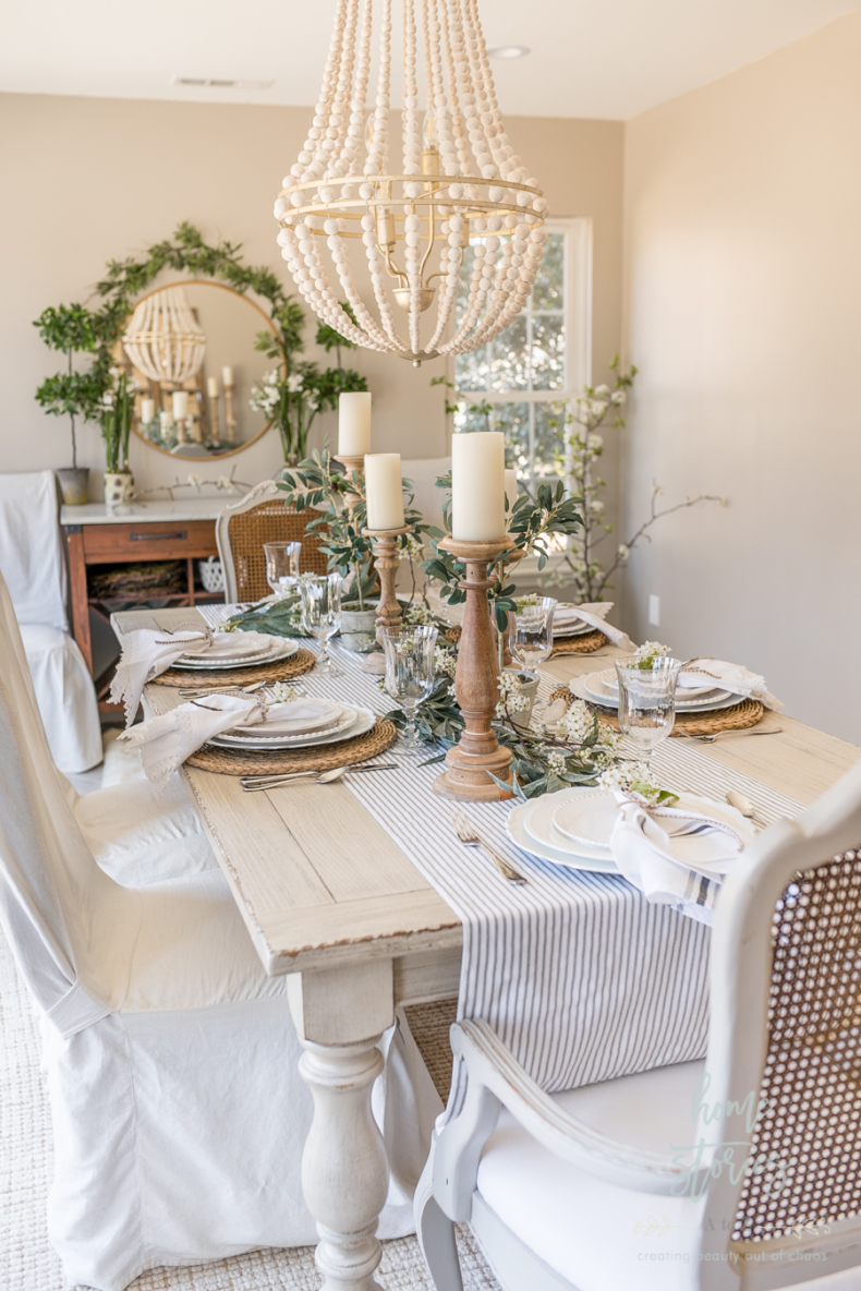Early Spring Decorating Tips - Spring Table by Home Stories A to Z