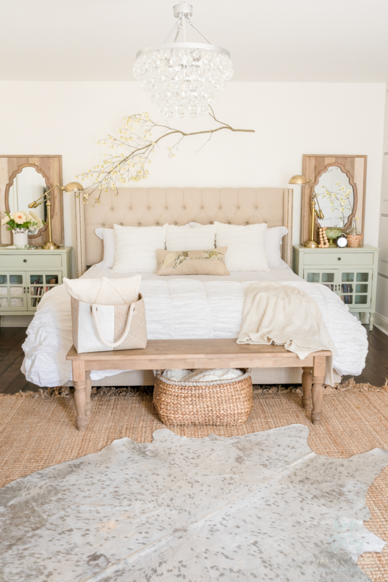 Spring French Country Cottage Inspired Bedroom by Home Stories A to Z