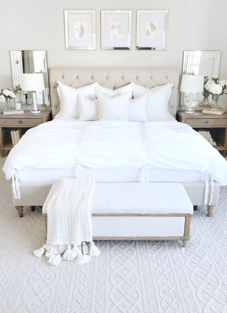 Neutral Spring Bedroom by My Texas House
