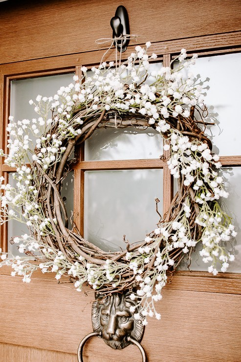 Spring Wreath Ideas - DIY Floral Spring Wreath by Pretty Handy Girl