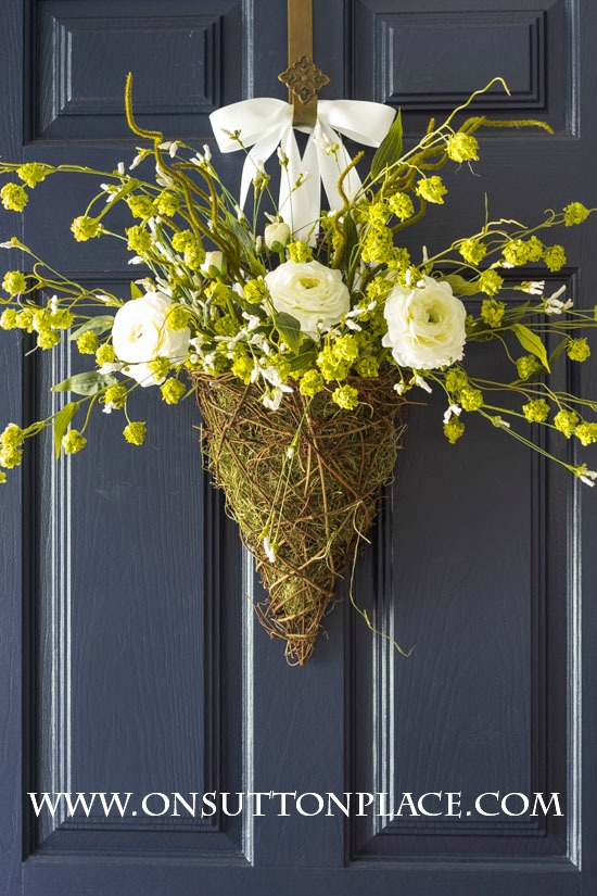 Spring Wreath Ideas - DIY Spring Basket by On Sutton Place