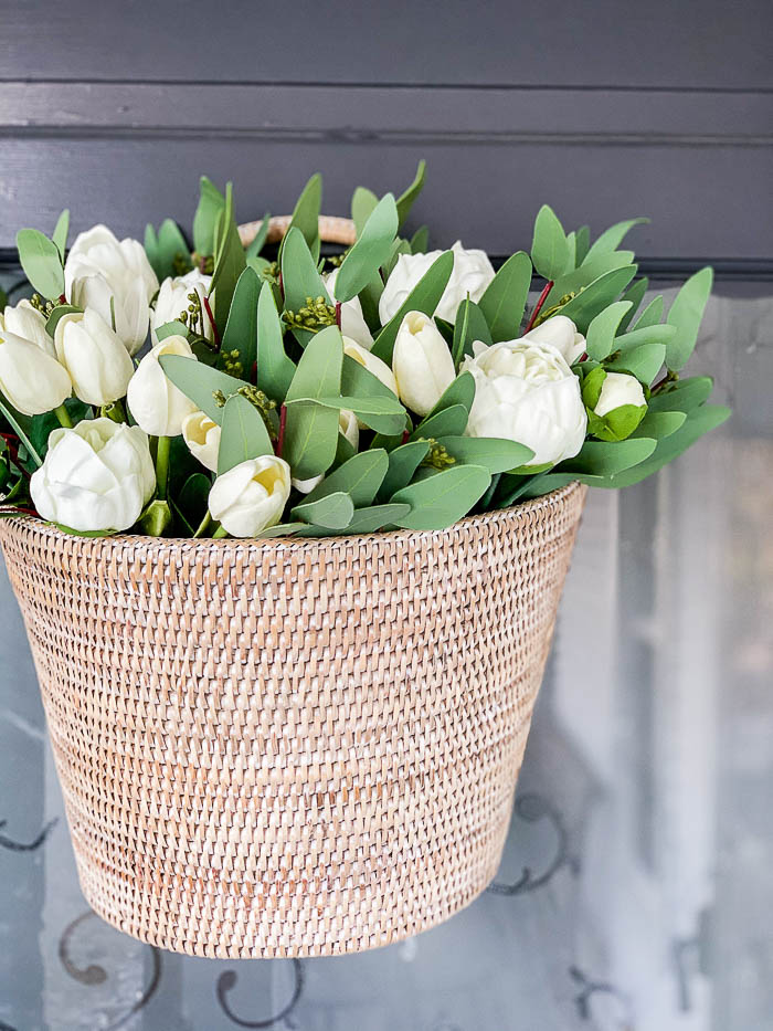 Spring Wreath Ideas - DIY Tulip Basket by Rooms for Rent