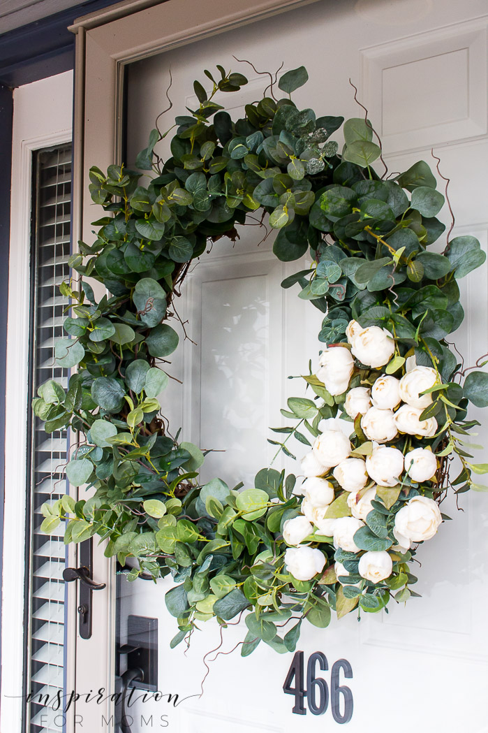 Spring Wreath Ideas - Elegant Peony Wreath by Inspiration for Moms