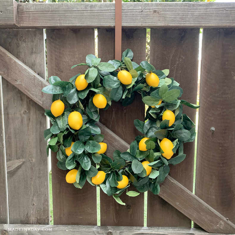 Spring Wreath Ideas - Lemon Wreath by Made in a Day