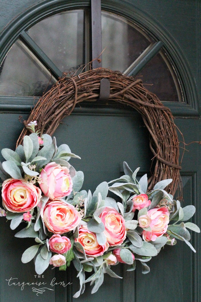 Spring Wreath Ideas - Peony Wreath by The Turquoise Home