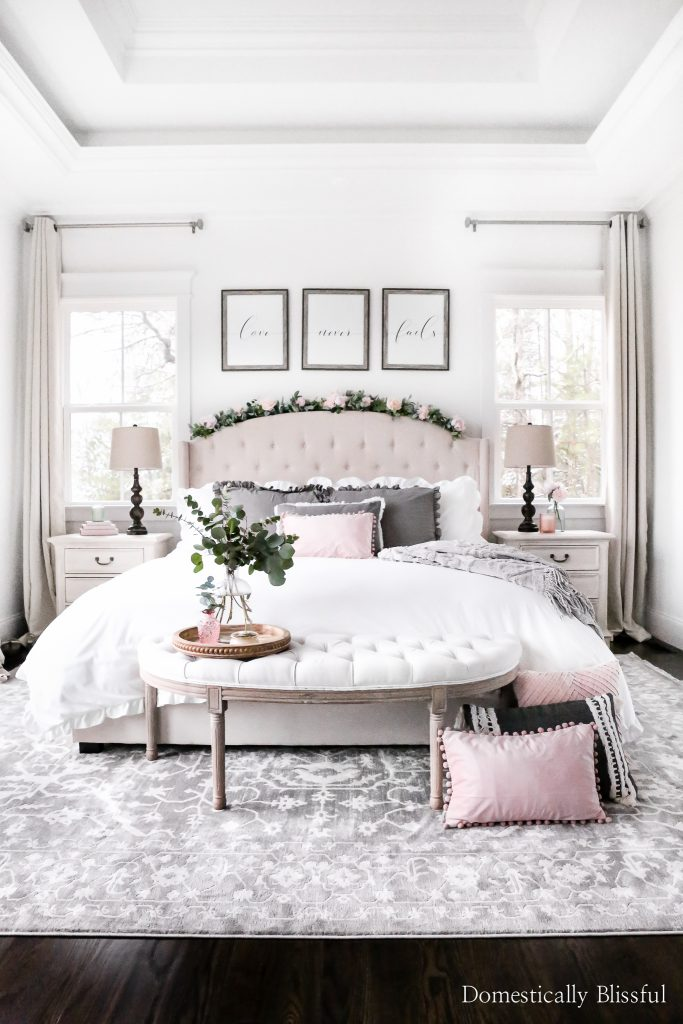 Valentine's Day Bedroom by Domestically Blissful