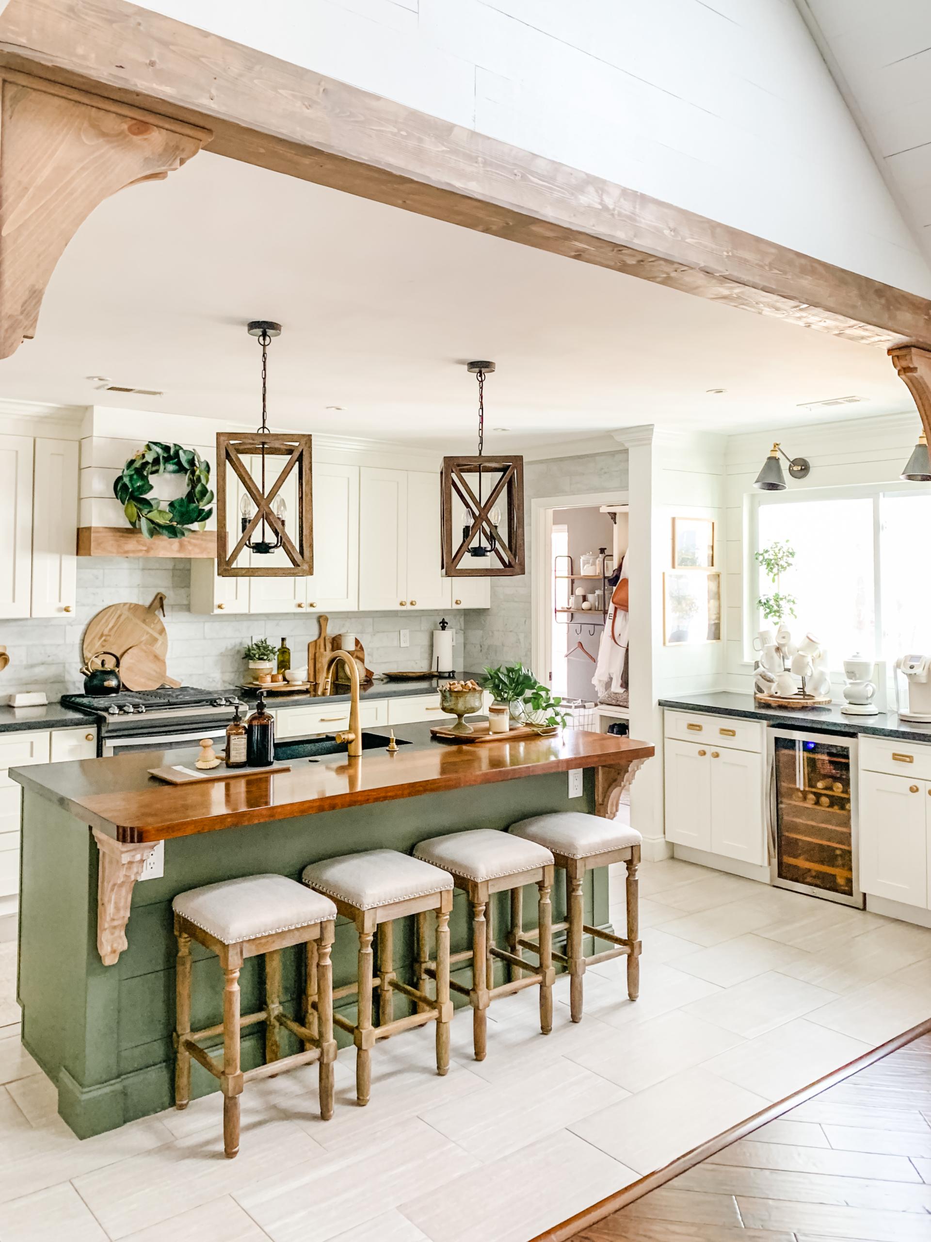 diy kitchen beam tutorial