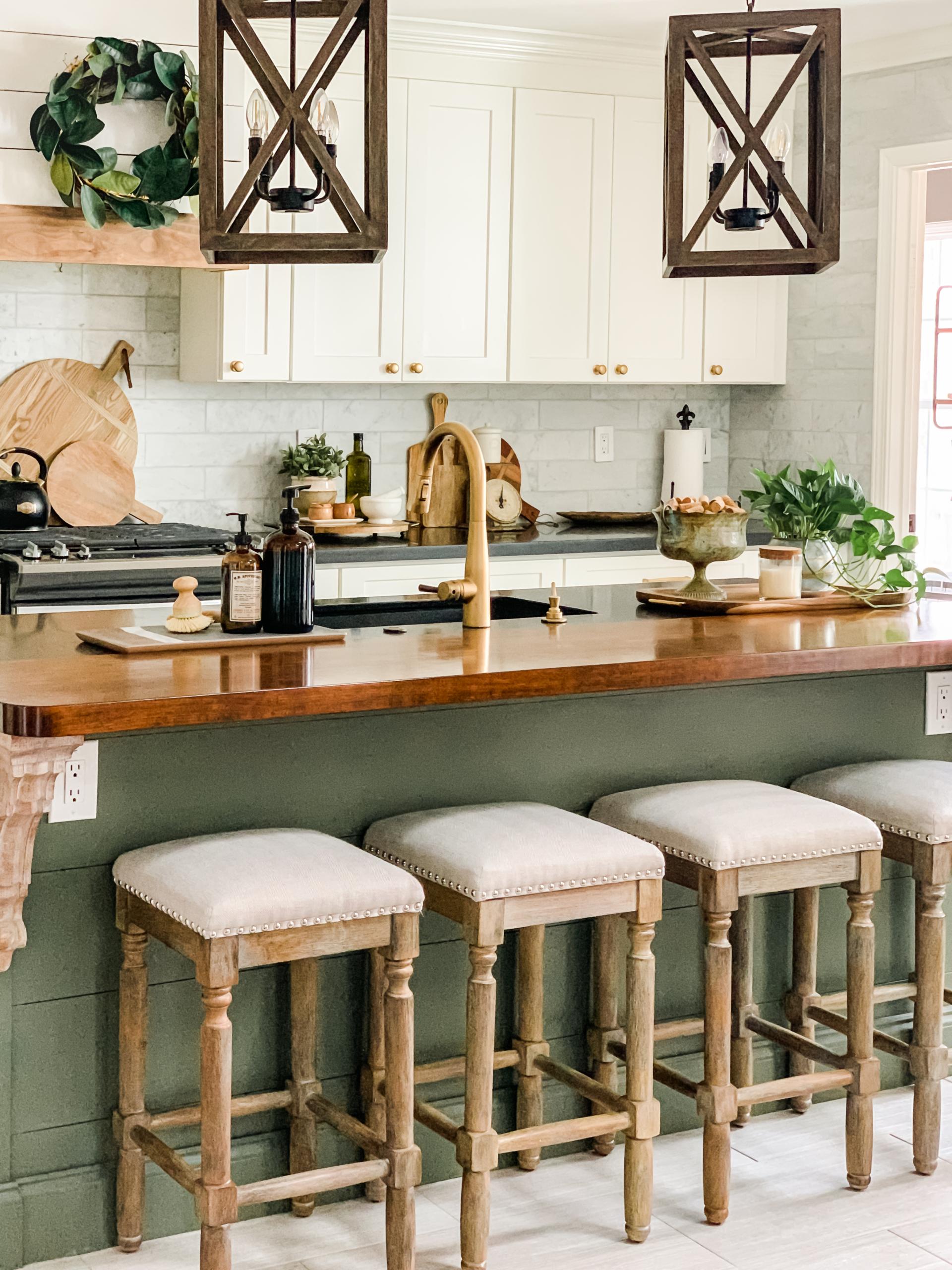 diy kitchen beam divider