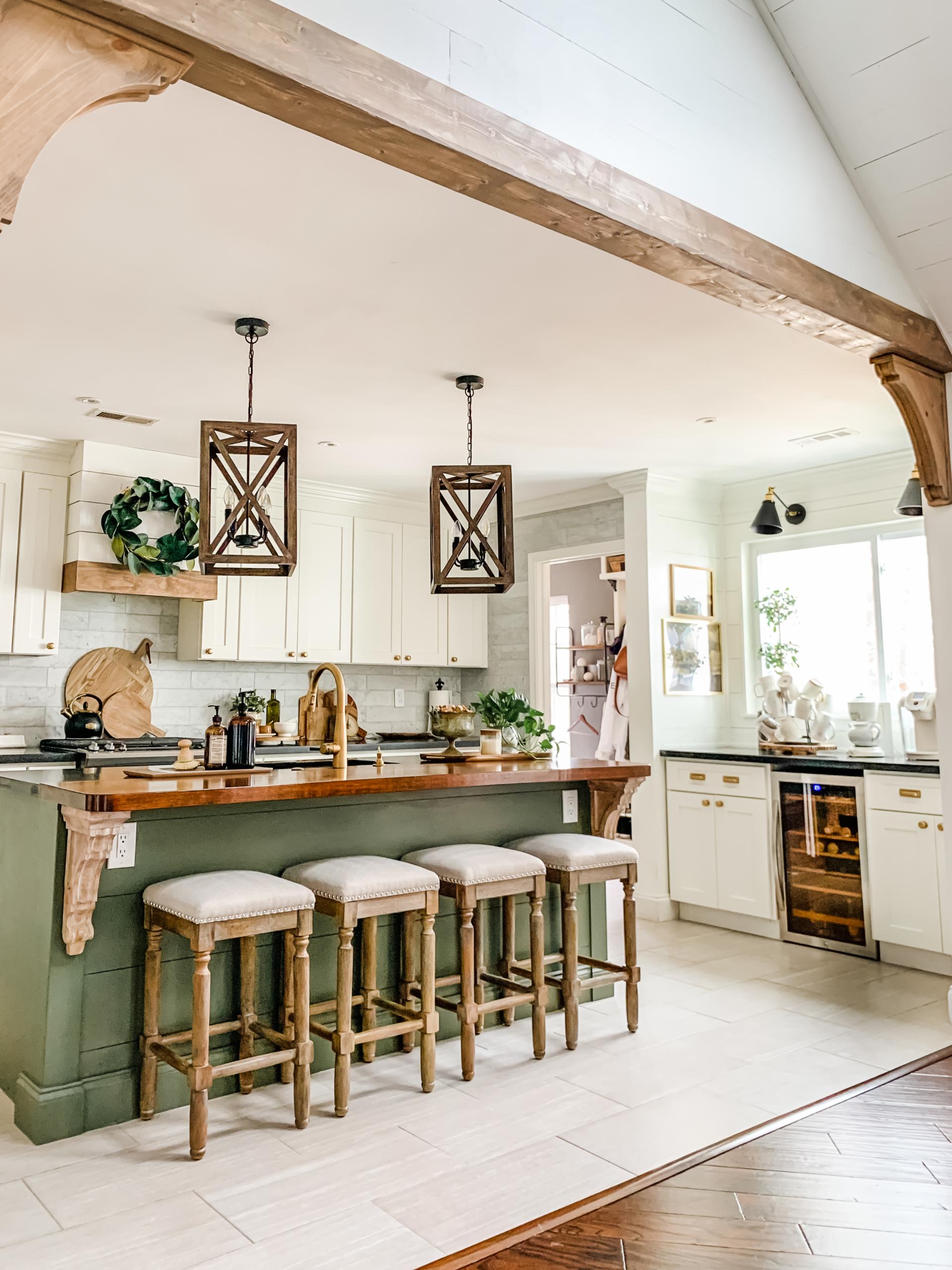 kitchen accessories styled in kitchen
