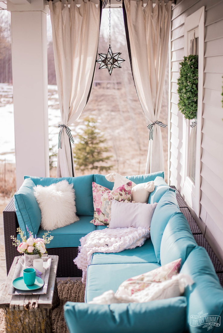 Spring Porch and Patio Ideas - Porch Decor with DIY Ideas for Spring by The DIY Mommy