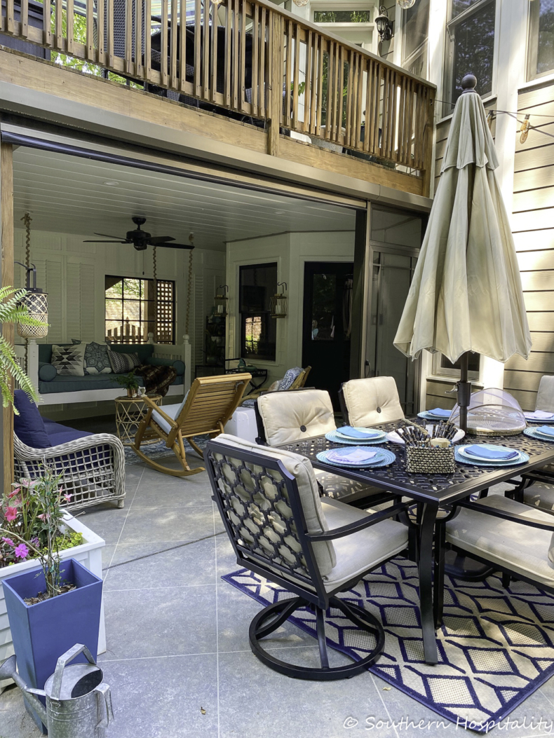 Spring Porch and Patio Ideas - Screened Porch Reveal by Southern Hospitality