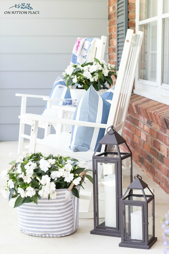 Spring Porch and Patio Ideas - Shade Plants by On Sutton Place