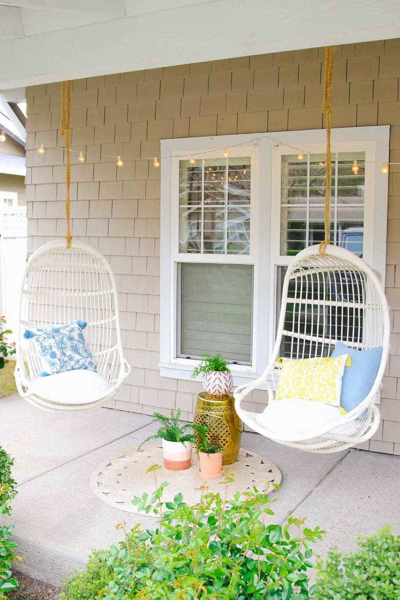 Spring Porch and Patio Ideas - Simple and Stylish Front Porch Swing by Modern Glam